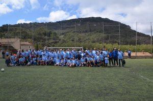 El equipo de futbolistas de Mater
