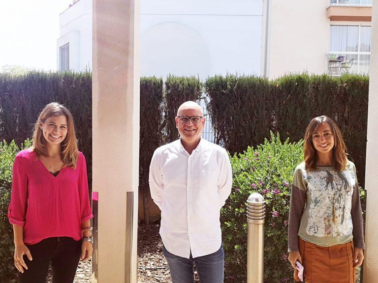 Laura Pérez, Vicenç Ferretjans y Lorena Cuenca forman el departamento de Psicología de Servicios Diurnos